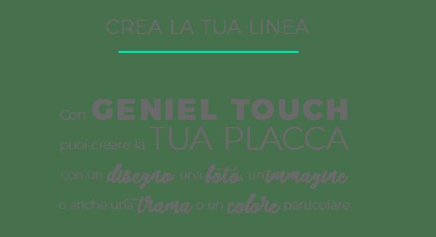Sistemi domotici | Geniel Touch | Personalizza