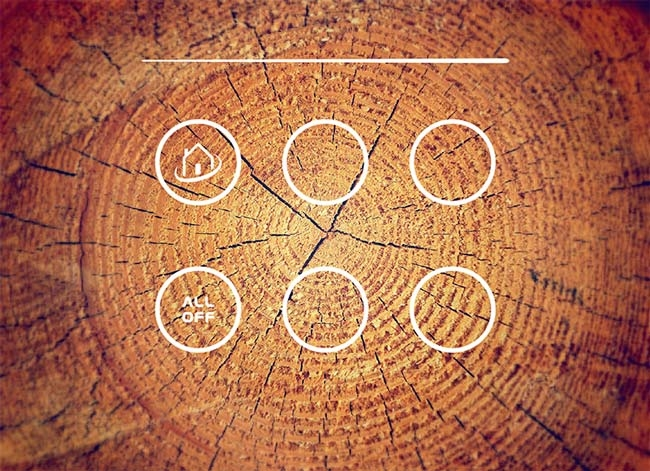 placca domotica effetto legno